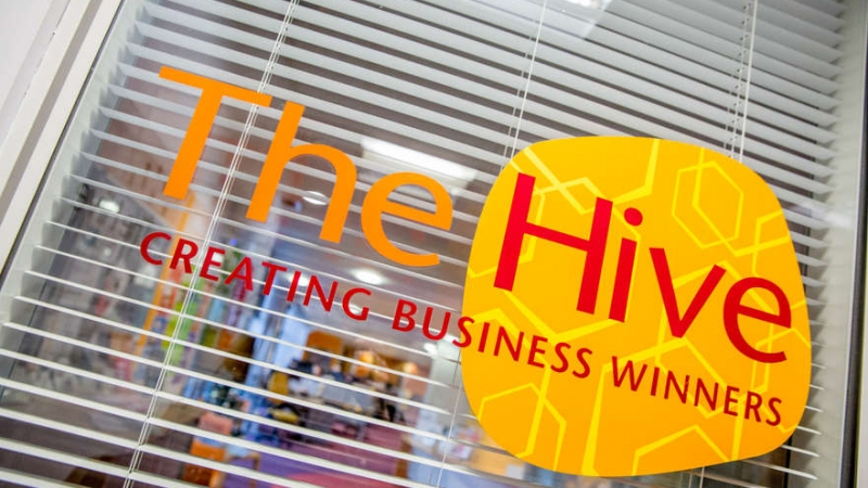 The Hive business logo